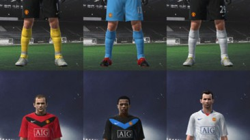 """PES 2009 """"Manchester United 09/10 Kit Set by Nicklaaas"""""""