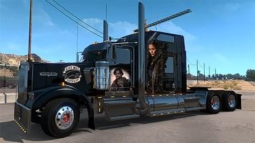 "American Truck Simulator ""Скин в Стиле Frontier для W900 SCS ATS 1.37.x и Выше"""