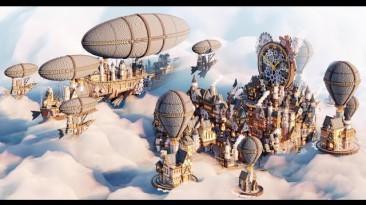 "Minecraft ""Локация города в стиле стимпанк"""