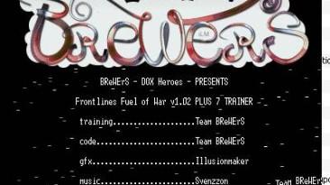 Frontlines: Fuel of War: Трейнер(+7)[1.02]