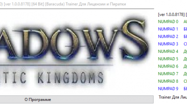 Shadows: Heretic Kingdoms: Трейнер/Trainer (+10) [1.0.0.8178] [64 Bit] {Baracuda}