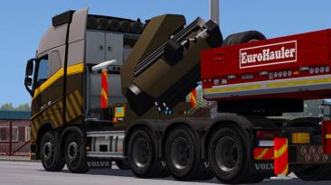 "Euro Truck Simulator 2 ""RPIE VOLVO FH16 2012 + Двойные прицепы v1.39.4.5s (1.39.x)"""