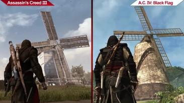 Сравнение | Assassin's Creed III (2012) vs. Assassin's Creed IV: Black Flag (2013) | УЛЬТРА