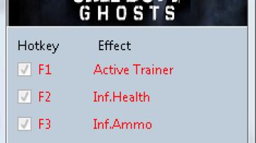 Call of Duty ~ Ghosts: Трейнер/Trainer (+8) [Update 3] {MrAntiFun}