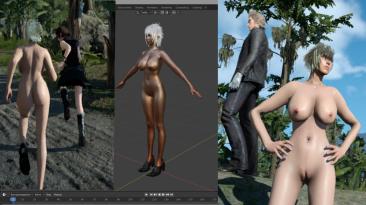 "Final Fantasy 15 ""Cidney nude noct woman V9 finale"""