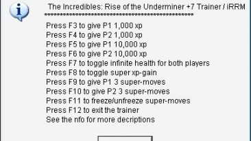 The Incredibles - Rise of the Underminer: Трейнер/Trainer (+7) [1.0] {aSiaN SouND eXPReSS}