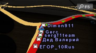 """Euro Truck Simulator 2 """"Отображение никнеймов на карте ProMods v1.0.4 (1.42.x)"""""""