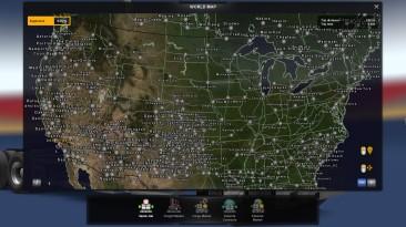 """American Truck Simulator """"Внутриигровая Фоновая Цветная Подложка для Всех Карт v1.1 ATS 1.37.x"""""""