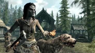 Энтузиасты добавили в Skyrim возможность гладить собак