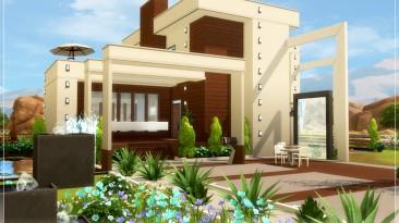 """The Sims 4 """"Коричнево-белый красивый дом"""""""