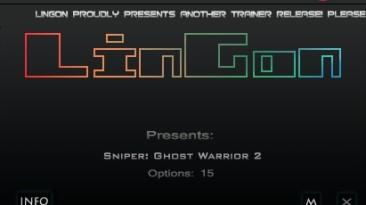 Sniper - Ghost Warrior 2: Трейнер/Trainer (+15) [1.06] {LinGon}