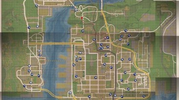 "Mafia 2: ""Карта города с магазинами и гаражами"""