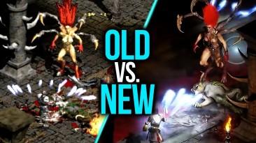 8 минут сравнительного видео Diablo 2: Resurrected и Diablo 2