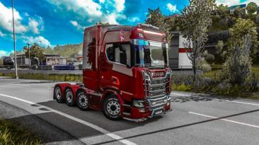"""Euro Truck Simulator 2 """"Реалистичный звуковой мод для всех грузовиков v1.0.0 (1.41.x)"""""""