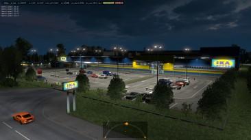 """Euro Truck Simulator 2 """"Новые Префабы Компаний Ikea Fr logistik ETS2 1.35.x"""""""