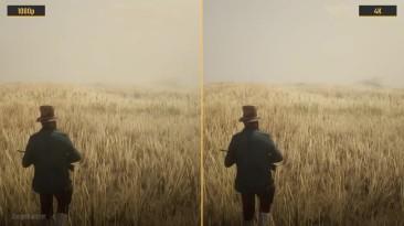 Red Dead Redemption 2 - сравнение 1080p и 4K 2160p