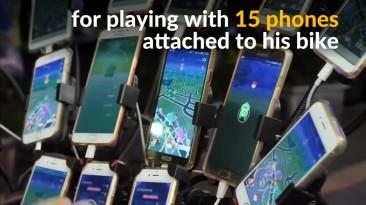 Тайваньский пенсионер играет Pokemon GO на двух десятках смартфонов одновременно