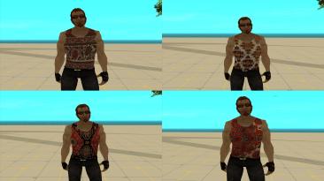 "Grand Theft Auto: San Andreas ""Сборник скинов Чувака из Постала в майке с ковровым рисунком"""