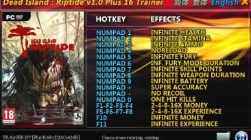 Dead Island - Riptide: Трейнер/Trainer (+16) [1.0 / 1.4.0] {FLiNG}