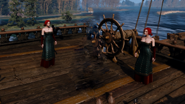 "Witcher 3: Wild Hunt ""Трисс вьмаскарадном платье"""