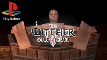 Геральт принимает теплую ванну в демейке Witcher 3 для PS1