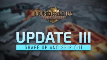В Industries of Titan появились бои между кораблями и снег