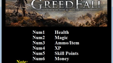 GreedFall: Трейнер/Trainer (+6) [1.0] {Abolfazl.k}