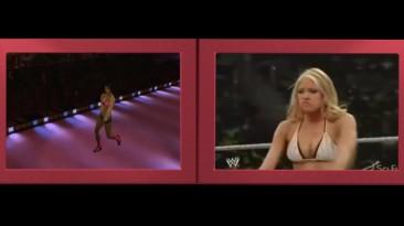 Сравнение входных сценок девушек из WWE 2k16 в жизни и из игры
