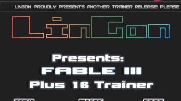 Fable 3: Трейнер/Trainer (+16) [1.1.1.3] {LinGon}