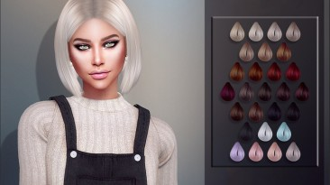 """Sims 4 """"Прическа - Детализированная, 27 цветов (2020)"""""""