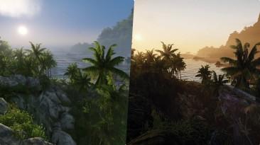 Видео сравнения Crysis Remastered и мода Crysis Enhanced Edition