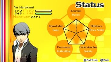 Persona 4: Сохранение/SaveGame (Ю Наруками, все статы на пятёрку)