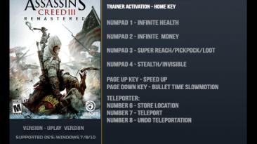 Assassin's Creed III: Remastered: Трейнер/Trainer (+8) [1.01] {LinGon}
