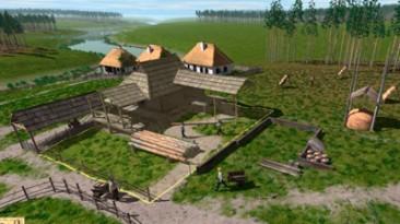 Градостроительная стратегия Ostriv с видами украинского села XVIII века