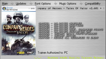 Company of Heroes: Tales Of Valor: Трейнер (+8 Fixed) [2.601 ]