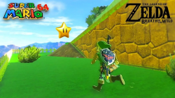 Моддер создал уровень из Super Mario 64 в Zelda Breath of the Wild