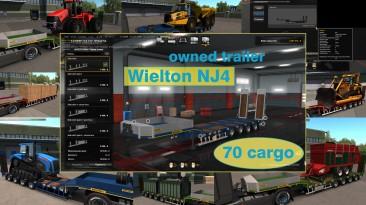 """Euro Truck Simulator 2 """"Низкорамный прицеп Wielton NJ4 в собственность v1.7.6"""""""