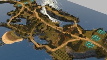 "Company of Heroes 2 ""6_p Greek Island (карта)"""