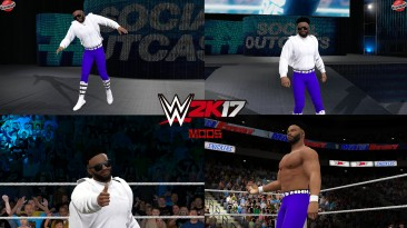 "WWE 2K17 ""Ashante Adonis (Лицевая анимация) WWE 2K19 Порт Мод"""