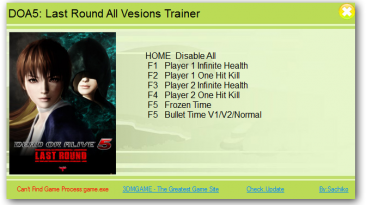 Dead or Alive 5 - Last Round: Трейнер/Trainer (+6) [All Versions] {XiaoXing}