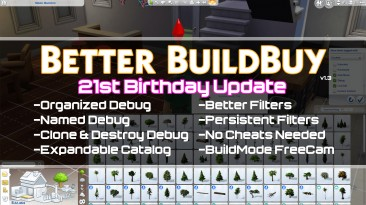 """The Sims 4 """"Улучшеное строительство - bettet buildbuy"""""""