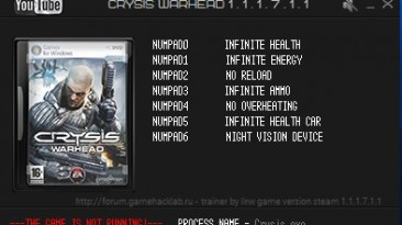 Crysis Warhead: Трейнер/Trainer (+7) [1.1.1.7.1.1] {LIRW / GHL}
