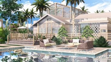 """The Sims 4 """"Шикарный стеклянный дом Coconut 3"""""""