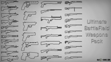 """Grand Theft Auto 5 """"Ultimate Battlefield Weapons Pack"""""""
