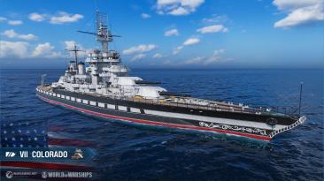 Линкор Colorado и Жетоны единства в World of Warships
