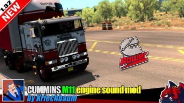 "American Truck Simulator ""Мод звук грузовика Cummins M11 engine sound mod by Kriechbaum"""