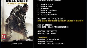 Call of Duty ~ Advanced Warfare: Трейнер/Trainer (+13) [1.0] {LinGon}