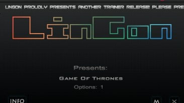 Game of Thrones: Трейнер/Trainer (+1: Бессмертие/Immortality) [1.0] {LinGon}