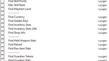 Borderlands 3: Таблица для Cheat Engine [UPD: 09.05.2021] {Rydian}