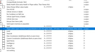 The Bards Tale 4 - Directors Cut: Таблица для Cheat Engine [UPD: 04.02.2020] {gideon25}